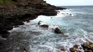 The shorebreak in Pele
