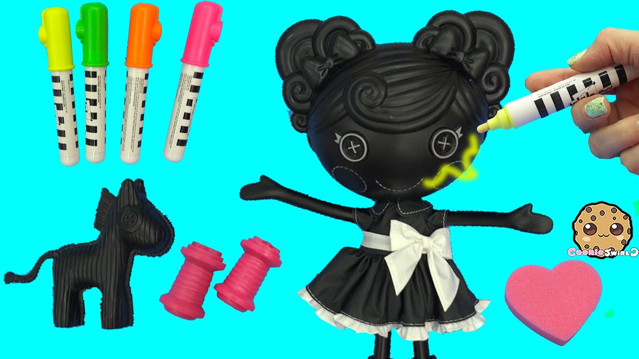 lalaloopsy trace e doodles color me draw with markers u0026 stamp doll