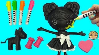 Lalaloopsy Trace E Doodles Color Me Draw with Markers & Stamp Doll Cookieswirlc Video(Color and draw on this Lalaloopsy Trace E Doodles with the markers. Color her Zebra pet too! The neon marks can be used on the stamps too! Lalaloopsy Tress ..., 2016-03-23T19:16:08.000Z)