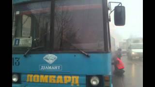 Загорелся троллейбус