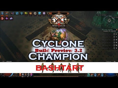 CYCLONE CHAMPION [3 2] Path of Exile Build * Flashback Starter ! Easy,  budget friendly and fast!