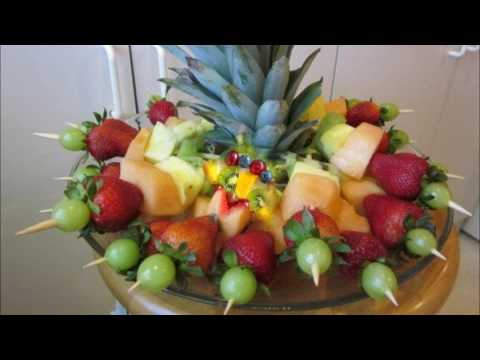 Simple fruit salad decoration ideas