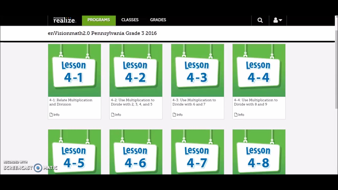 Workbooks envision math grade 5 workbook online : Envision Math 2.0 2016 Tutorial - YouTube