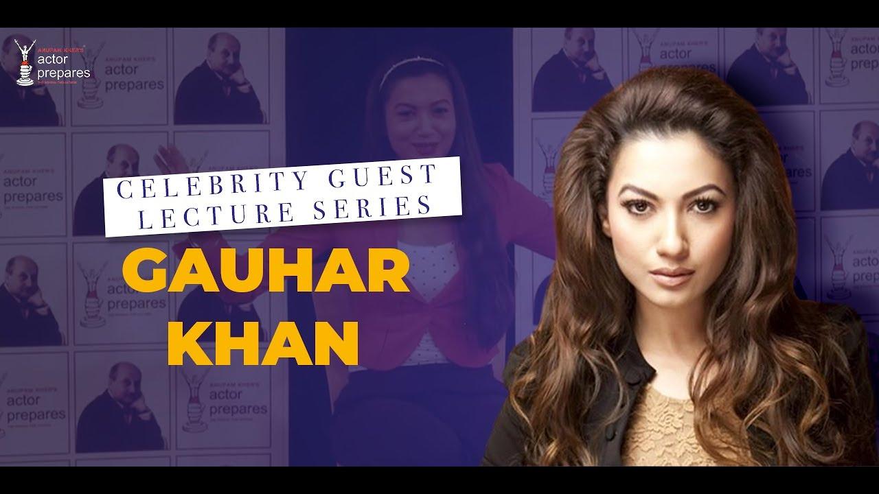 Celebrity Guest II Gauhar Khan at Actor Prepares
