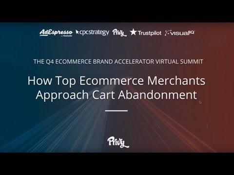How Top Ecommerce Merchants Approach Cart Abandonment