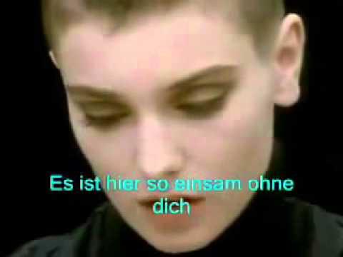 Sinead'O'Connor Nothing Compares to you Deutsch übersetzt