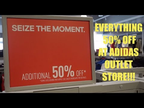 981445b33cdf34 EVERYTHING 50% OFF AT THE ADIDAS OUTLET STORE!!! - YouTube