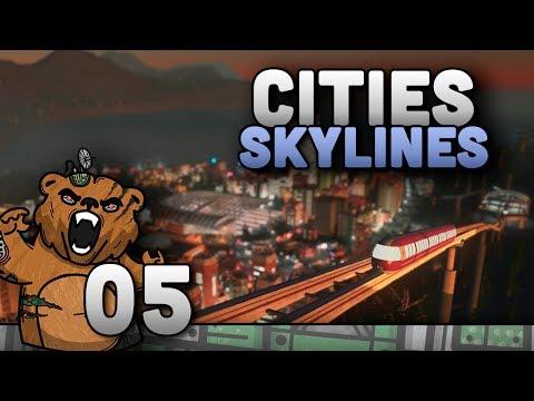 """Cities Skylines #05 """"Um belo canal na cidade"""" - Mass Transit Expansão Gameplay Português PT-BR"""