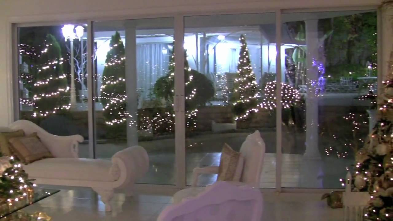 Christmas winter wonderland house decorations youtube for Home decorations youtube