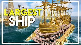 50+ CANNONS - THE LARGEST AND FASTEST SHIP IN THE GAME! (Ark Atlas Gameplay #25)