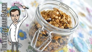 How To Make Homemade Granola | Easy Healthy Snack | Thevegetarianbaker