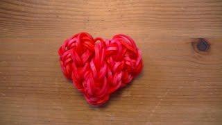 Tuto Rainbow Loom coeur / heart ( By Raya)