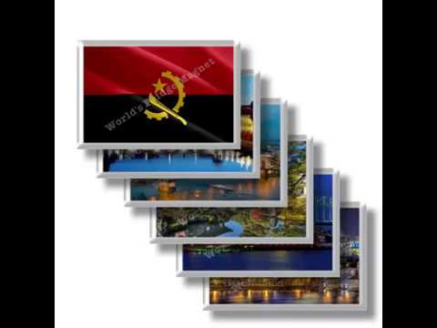 AO - Travel in Angola - rectangular magnets and souvenirs