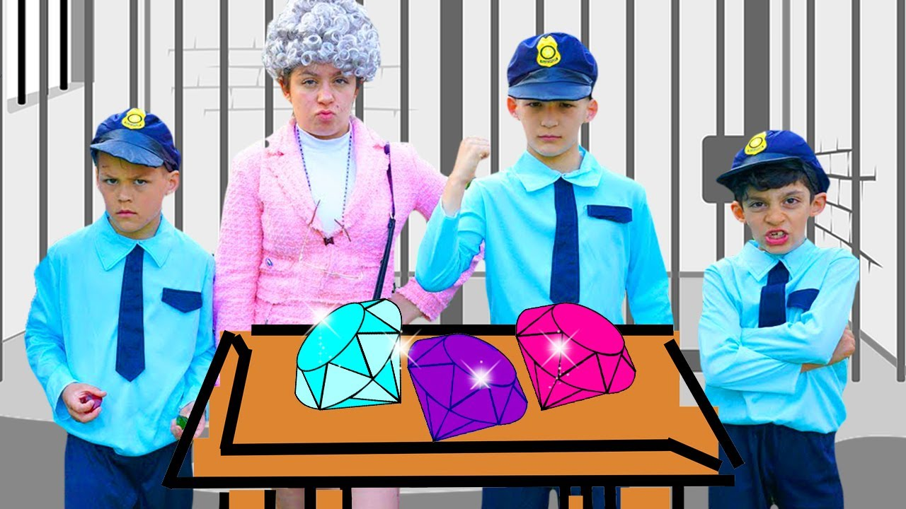 Jason in cops adventures about diamonds for kids