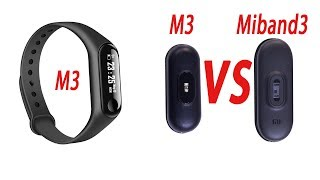 M3 intelligens sport karkötő Hand-On VS Xiaomi Miband3
