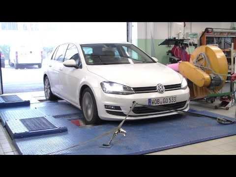 Volkswagen Golf 2.0 TDI BlueMotion 2013 Dyno Test Raw Footage full HD Part I
