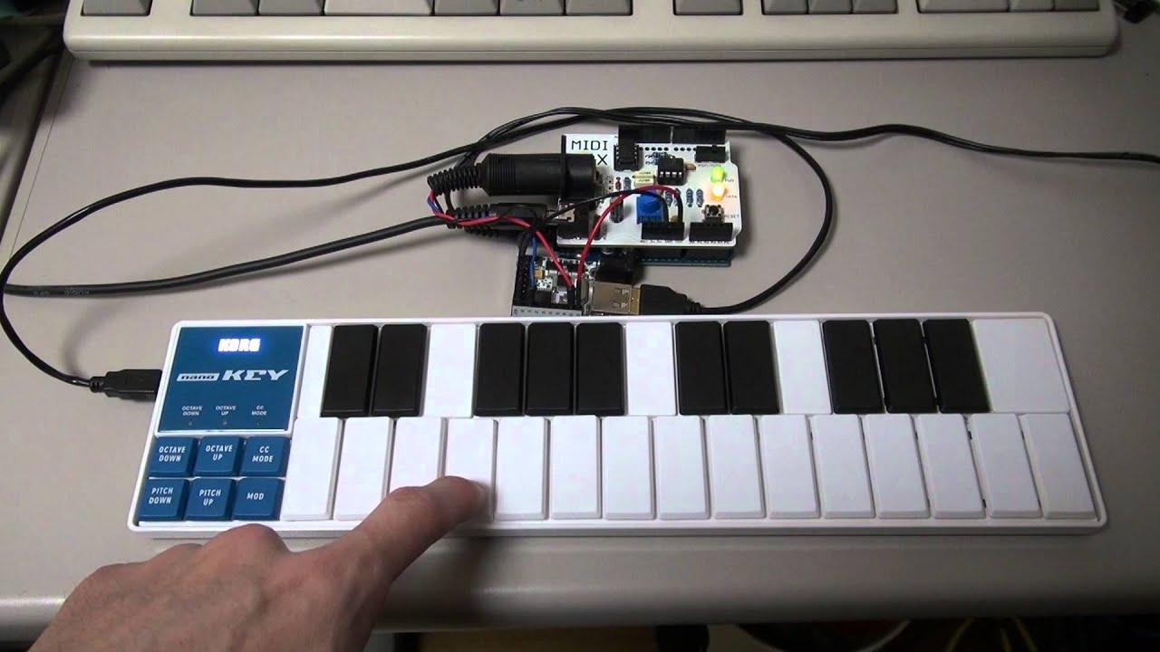 USB MIDI converter - nano KEY - YouTube