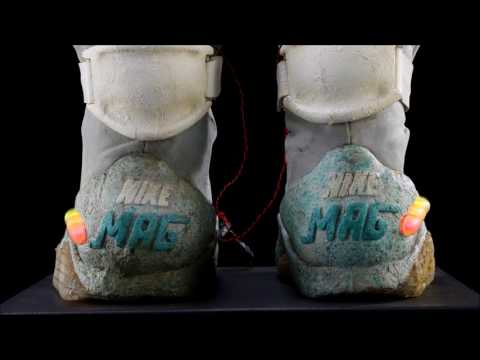 Lot #37 - BACK TO THE FUTURE PART II (1989) - Marty McFly's Light-Up 2015 Nike Shoes