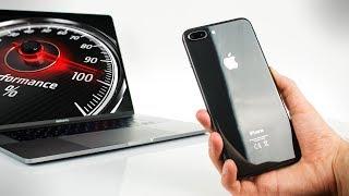 iPhone 8 vs MacBook Pro 2017 - SPEED TEST!