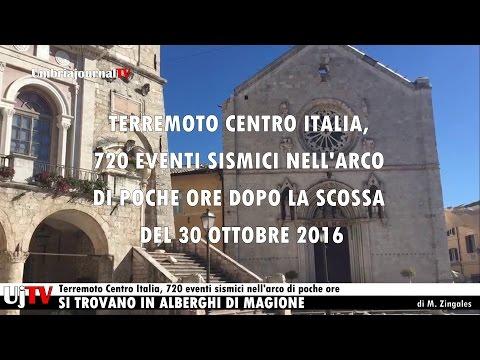 Terremoto Italia Centrale, 720 eventi sismici nell'arco di poche ore