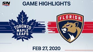 NHL Highlights | Maple Leafs vs. Panthers - Feb. 27, 2020