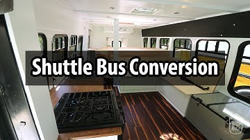Amazing SHUTTLE BUS Conversion in 4 weeks