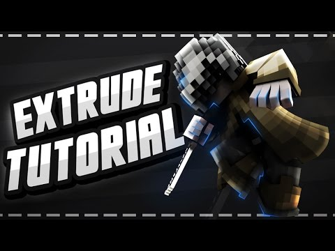 Minecraft Graphics Tutorial (Part 1)  - Extruding (Anishwij, Glow Edit and More!) (Cinema 4D)
