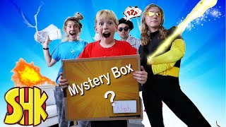 Mystery Box Battle! Hope is mad when Noah & Eden get the fan mail & fame! SuperHero Kids Family Fun