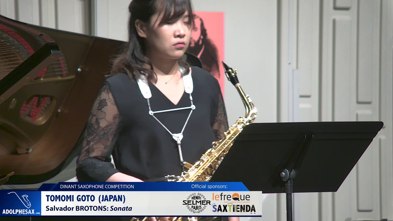 Tomomi Goto (Japan) - Sonata by Salvador Brotons (Dinant 2019)
