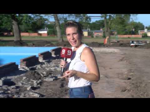 Obras en el Polideportivo de Seguí
