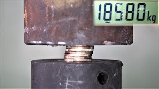 How Strong Are Coins? Hydraulic Press Test!