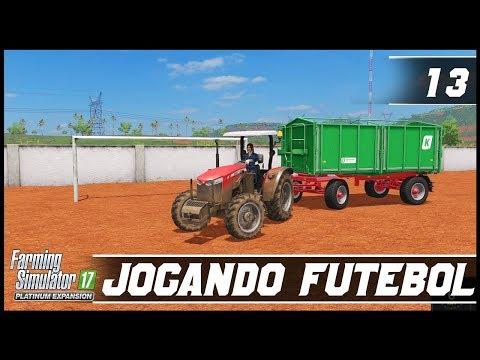 JOGANDO FUTEBOL COM O TRATOR?! | FARMING SIMULATOR 17 PLATINUM EDITION #13 | PT-BR |