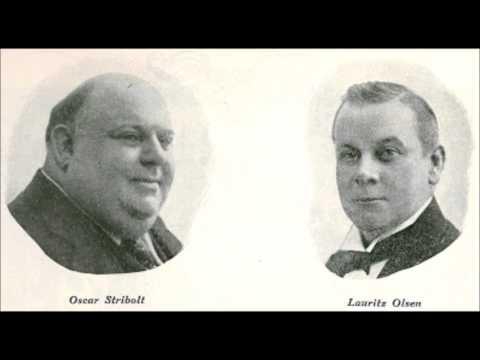 """""""Det skal gå langsomt, men sikkert"""" Oscar Stribolt og Lauritz Olsen med Scala Orkestret 1915"""