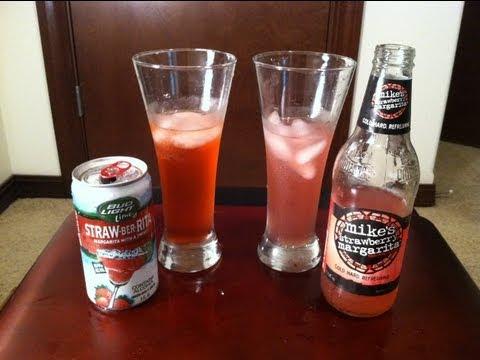 Bud Light Lime Strawberrita VS Mikeu0027s Strawberry Margarita Review