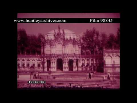 Dresden Palace, Germany, 1937.  Archive film 98845