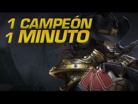 Twisted Fate - 1 CAMPEÓN EN 1 MINUTO - League of Legends Express