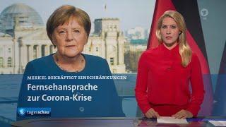 Themen der sendung: fernsehansprache zur corona-krise: kanzlerin merkel bekräftigt einschränkungen, zahl corona-infektionen in deutschland steigt, vorsor...