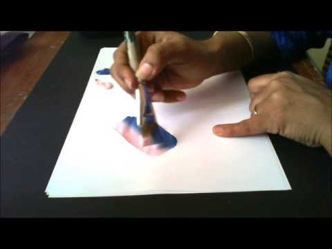 How To Load Your Brush With Two Colors- For One Stroke Painting