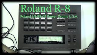 Roland R-8 SN-R8-09 Power Drums U.S.A.