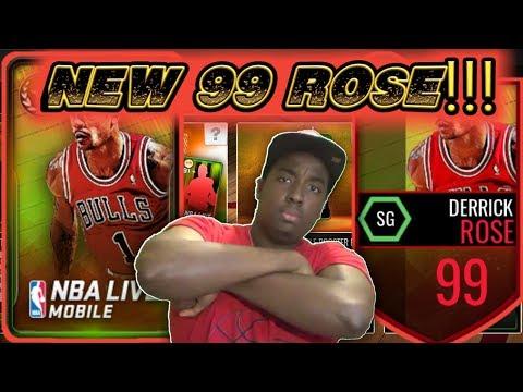 NBA LIVE MOBILE SUMMER COURTS LEGEND BUNDLE OPENING + LIVE 99 OVR DERRICK ROSE GAMEPLAY!!!