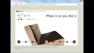 Custom tool for making furniture