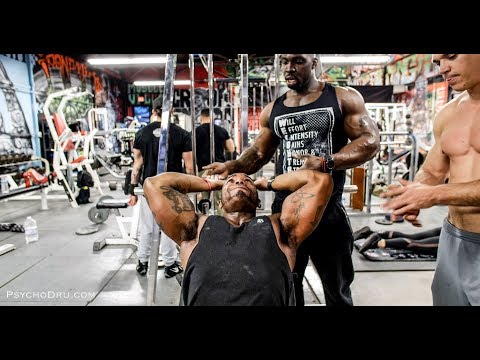 BICEPS & TRICEPS ARM WORKOUT RESURRECTION ft. BODY BY MIKE - PSYCHO DRU - BIG ROB - IRON ADDICTS GYM