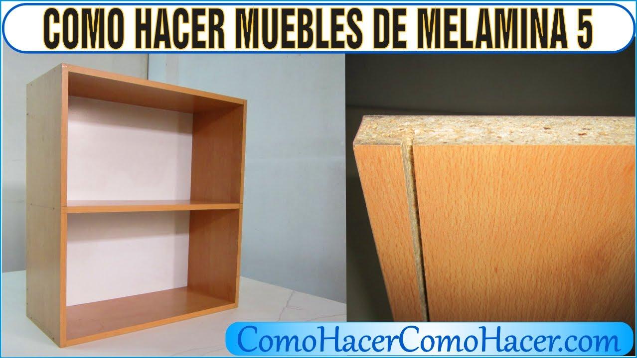 Bricolage como hacer muebles laminados melamina 5 youtube for Programa para crear muebles de melamina