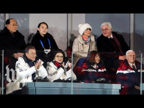 Pence sits near Kim Jong Un's sister, doesn\'t applaud unified Korean Olympians