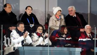 Pence sits near Kim Jong Un's sister, doesn