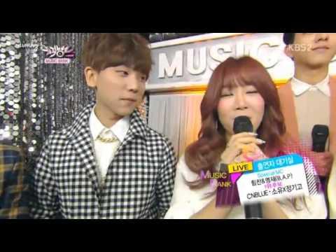 1400307 CNBLUE Soyou JunggiGo interview MC B.A.P