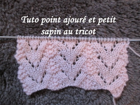 tuto point ajoure sapin au tricot stitch knitting punto tejido dos agujas youtube. Black Bedroom Furniture Sets. Home Design Ideas