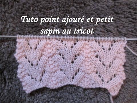 tuto point ajoure sapin au tricot stitch knitting punto. Black Bedroom Furniture Sets. Home Design Ideas