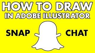 How to draw snapchat logo - Adobe illustrator tutorial #5