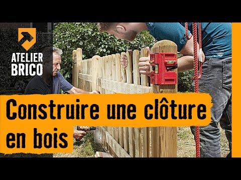Construire une clôture en bois - YouTube